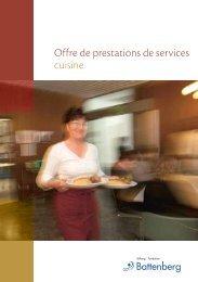Offre de prestations de services cuisine - Stiftung Fondation ...
