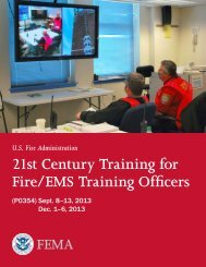 21st Century Training for Fire/EMS Training Officers - Mississippi ...