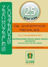 Descargar programa XXV Jornadas Nacionales de Enfermos ... - Alcer