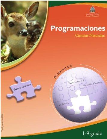 Programaciones Ciencias Naturales 1 - EQUIP123.net