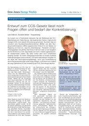 Entwurf zum CCS-Gesetz lässt noch Fragen offen und bedarf der ...