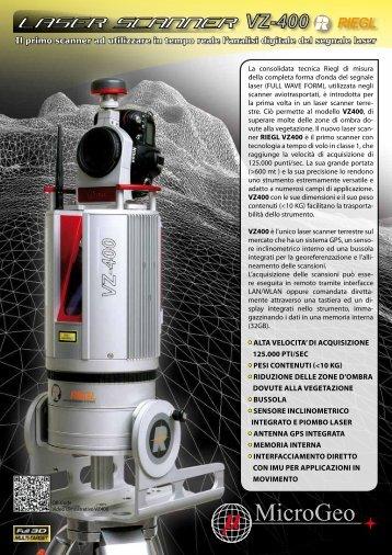 Il primo scanner ad utilizzare in tempo reale l'analisi ... - Microgeo S.r.l.
