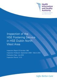 Inspection of the HSE Fostering Service in HSE Dublin ... - hiqa.ie
