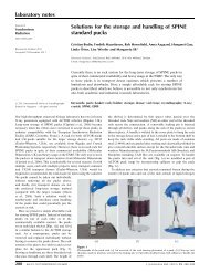 Solutions for the storage and handling of SPINE standard pucks