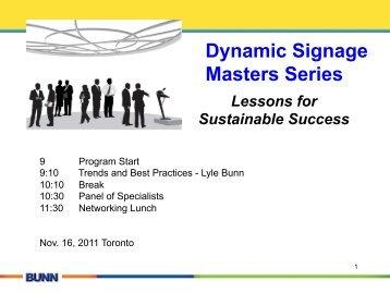 Dynamic Signage Masters Series - Lyle Bunn