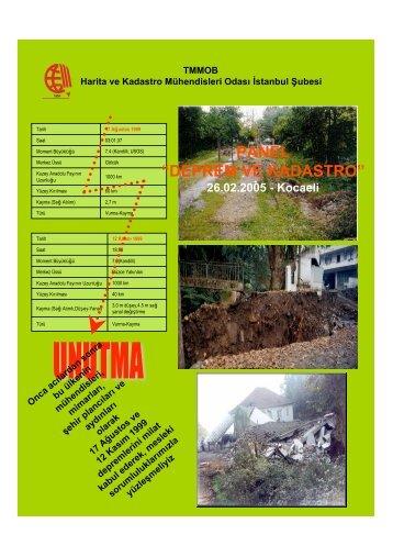 """panel """"deprem ve kadastro"""" - Harita ve Kadastro Mühendisleri Odası"""