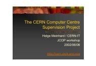 Control of PC farms - ITCO - CERN