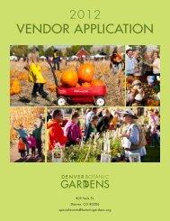 VENDOR APPLICATION - Denver Botanic Gardens