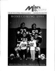 Alumni Association - Mines Magazine - Colorado School of Mines