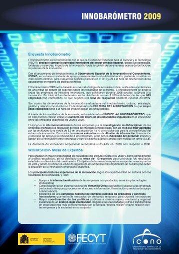 INNOBARÓMETRO 2009 - ICONO - Fundación Española para la ...