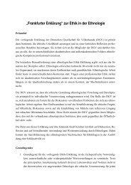 """""""Frankfurter Erklärung"""" zur Ethik in der Ethnologie - Deutsche ..."""