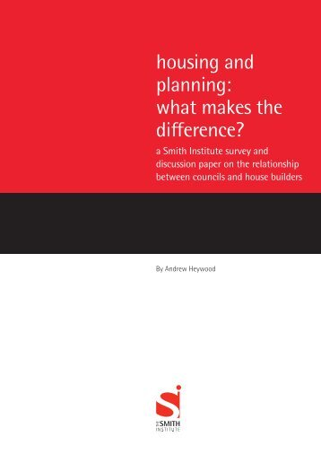 Housing and planning - what makes a difference
