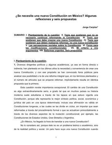 ¿Se necesita una nueva Constitución en México? - Red de Revistas ...