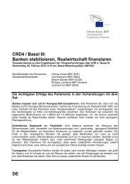 Safer Banks for Europe: Basel III - Othmar Karas