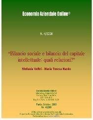 Bilancio sociale e bilancio del capitale intellettuale: quali relazioni?