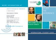 International semester student guide - Faculty of Science and ...