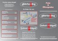Preisliste Indoor-Minigolf - Gilde-Bowling