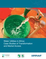 Water Utilities in Africa: Case Studies of Transformation and ... - WSP
