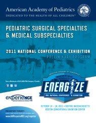 Pediatric Surgical Specialties and Medical Subspecialties