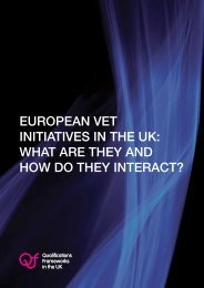 european vet initiatives in the uk - Scottish Credit and Qualifications ...