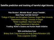 HAB Research - CIOSS - Oregon State University