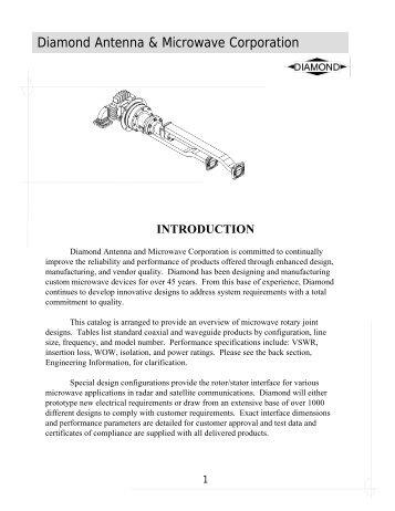 Legacy Rotary Joint Catalog - Aspen Electronics