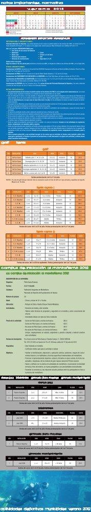 actividades deportivas municipales verano 2012 - Ayuntamiento de ...
