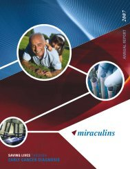 Miraculins 2007 Annual Report