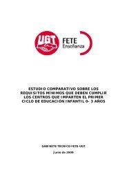 estudio comparativo sobre los requisitos mínimos que ... - FETE-UGT