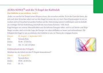 AURA-SOMA® und die 72 Engel der Kabbalah