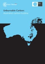 Unburnable Carbon: Australia's carbon bubble - The Climate Institute