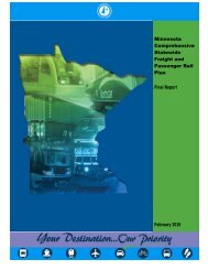 Minnesota Comprehensive Statewide Freight and Passenger Rail ...