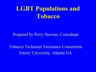 LGBT Populations and Tobacco 2nd edition - Tobacco Technical ...