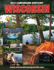 Campground Directory - Wisconsin Department of Tourism