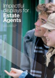 Impactful displays for Estate Agents - Redcliffe