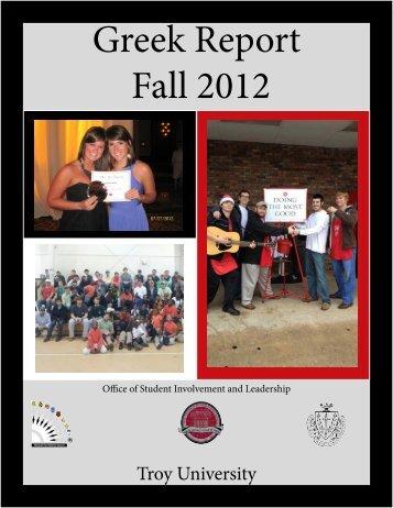 Greek Report Fall 2012 - Troy University