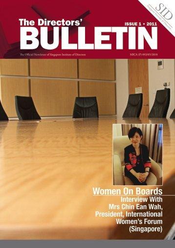 Women On Boards - Singapore Institute of Directors