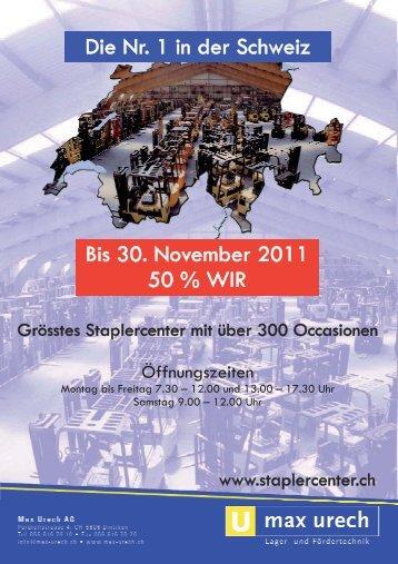Die Nr. 1 in der Schweiz Bis 30. November 2011 50 ... - Max Urech AG