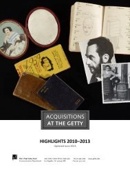 Acquisitions: Recent Highlights - News from the Getty