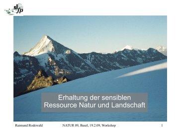 Referat Rodewald - Forum Landschaft