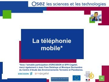 La téléphonie mobile - Association Femmes & Sciences