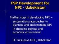 FSP Development for NPI - Uzbekistan
