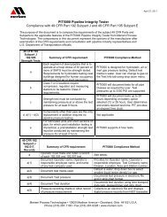 Compliance with 49 CFR Part 192 Subpart J and ... - JM Test Systems