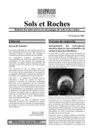 Sols et Roches - LMR - EPFL