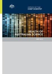 Health of Australian Science - Chief Scientist for Australia
