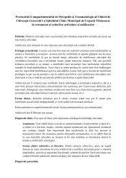 Protocolul redorilor articulare - Spitalul Clinic Municipal de Urgenta ...