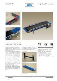 Series 31600 Light Duty Belt Conveyor A light load  – short or long