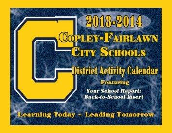 2013 District Activity Calendar - Copley-Fairlawn City Schools