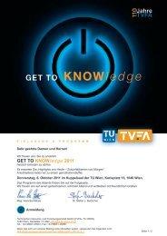 GET To KNoWledge 2011 - TVFA TU-Wien Gmbh