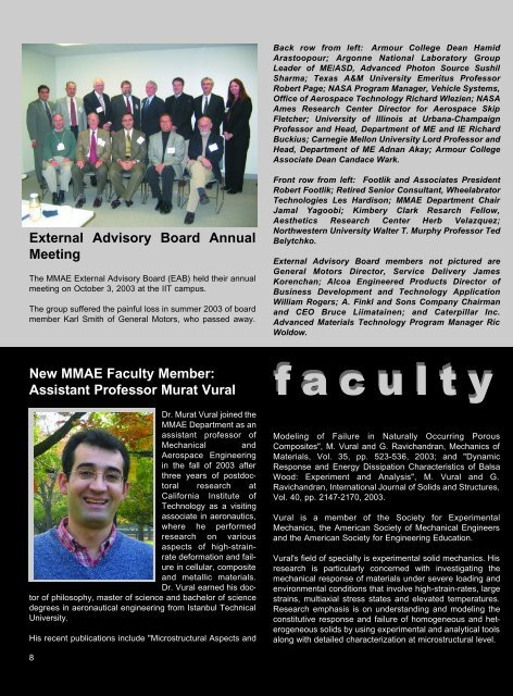 Faculty News - Mechanical, Materials and Aerospace Engineering